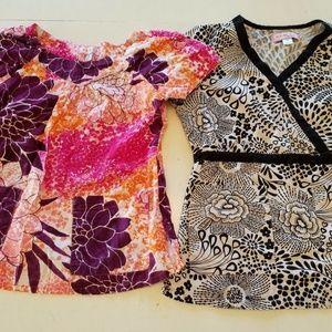 Koi Kathy Peterson Scrub Uniform Tops  Size SMALL